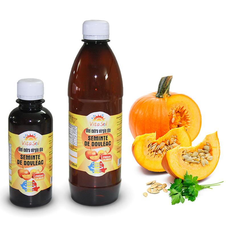 Design eticheta ulei extravirgin seminte dovleac - Vita Sol