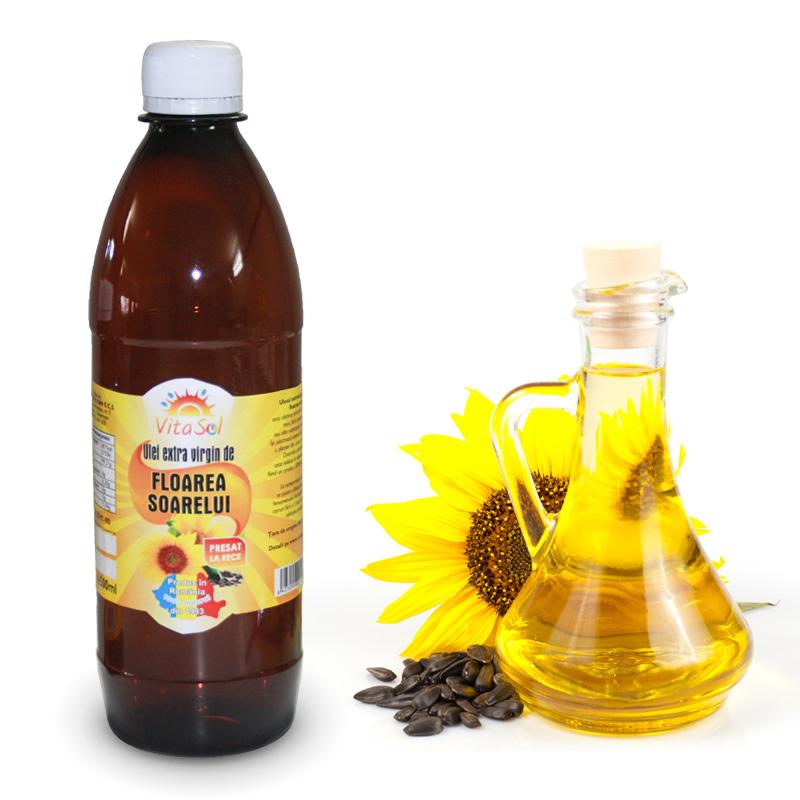 Design eticheta ulei floarea soarelui - Vita Sol