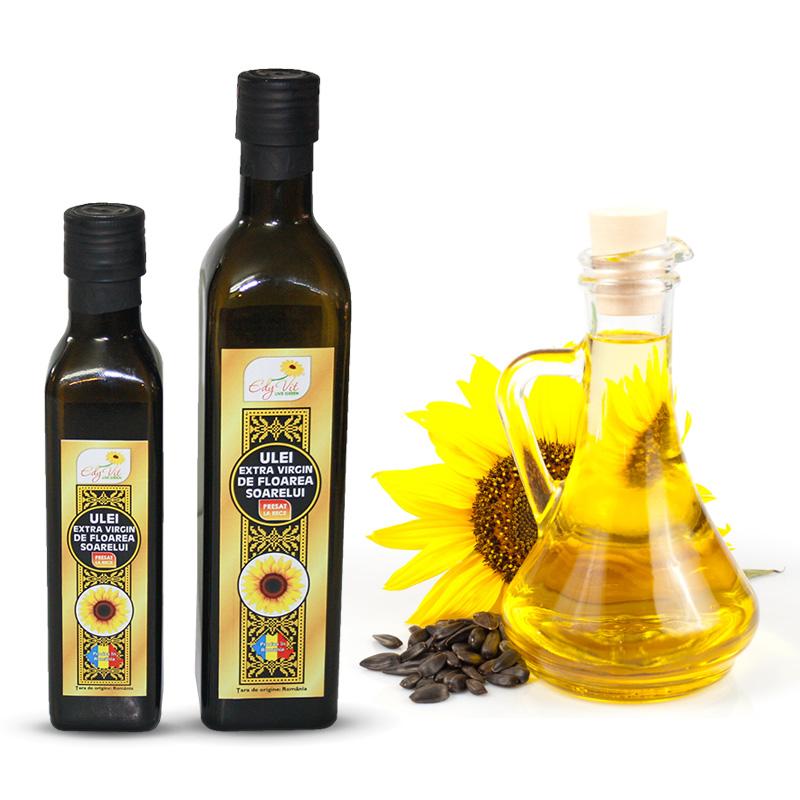 Design eticheta ulei extra virgin de floarea soarelui Edy Vit