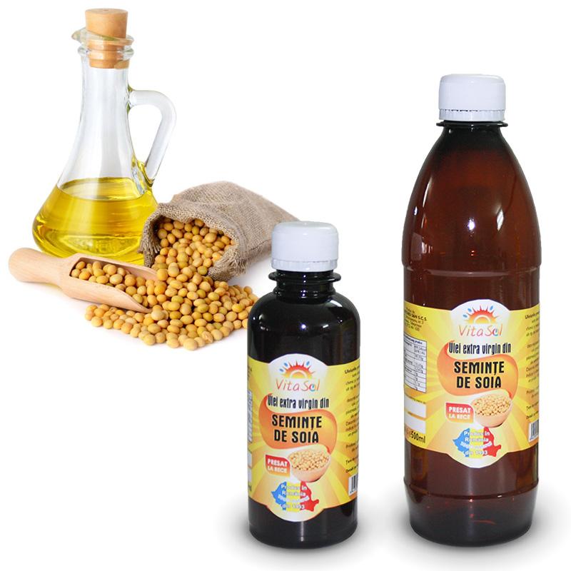 Design eticheta ulei extravirgin seminte soia - Vita Sol