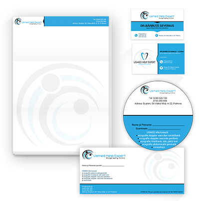 Design identitate companie investigatii imagistice - Usmed Help Expert