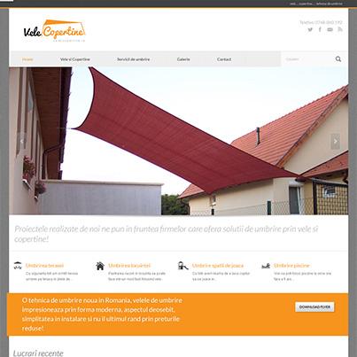 Implementare site web solutii umbrire vele-copertine.ro