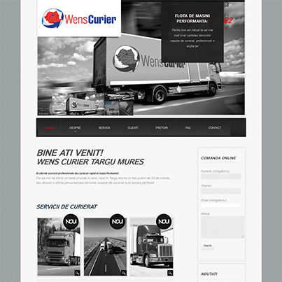 Design site web firma curierat national - Wens Curier
