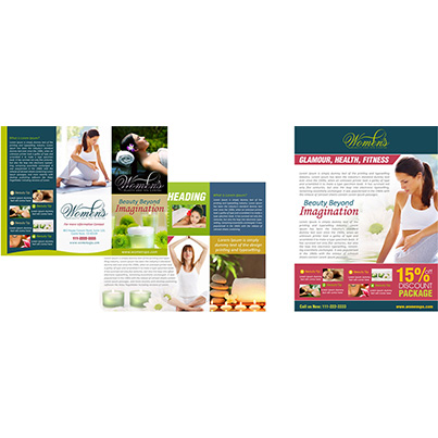 Design flyer si brosuri promovare centru spa - Womens