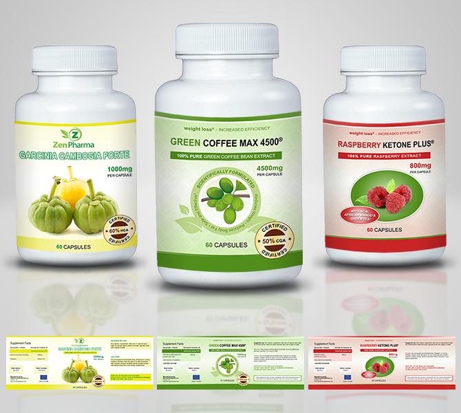 Design etichete suplimente nutritive