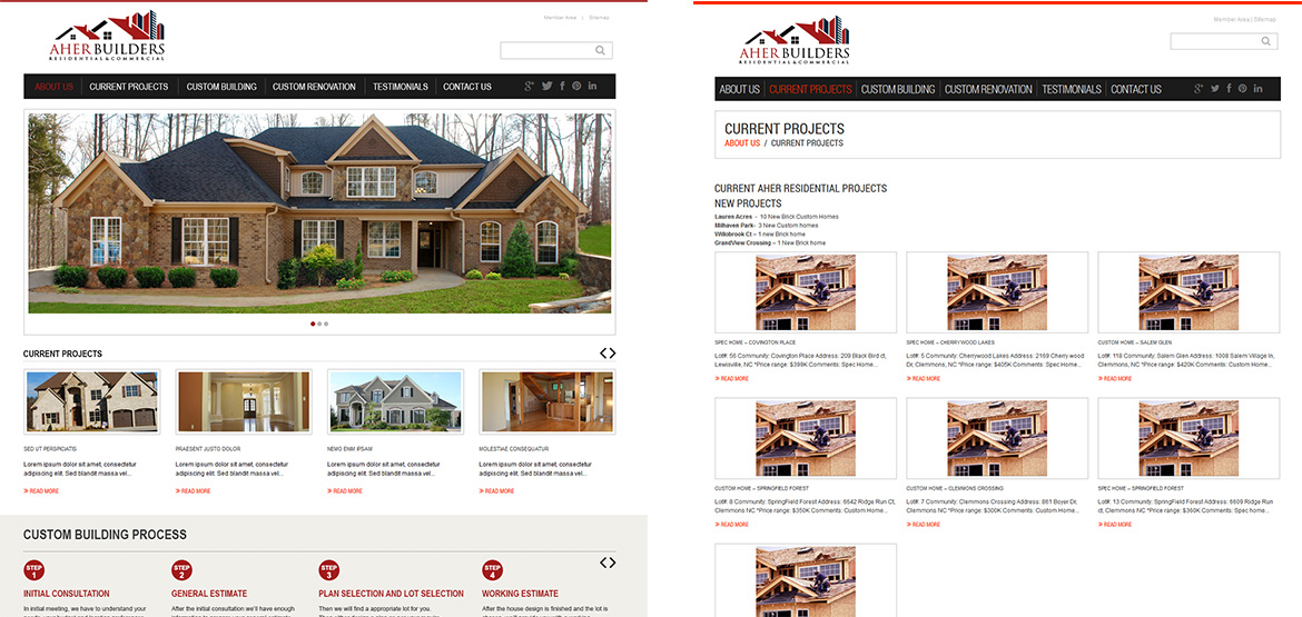Design site web Aher-Builders