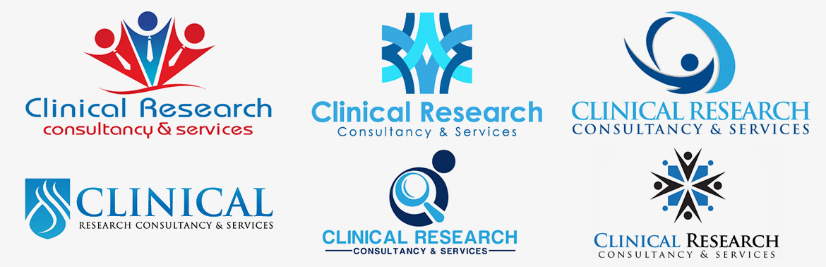 Design sigla firma de consultanta si servicii cercetare clinica - clinical research