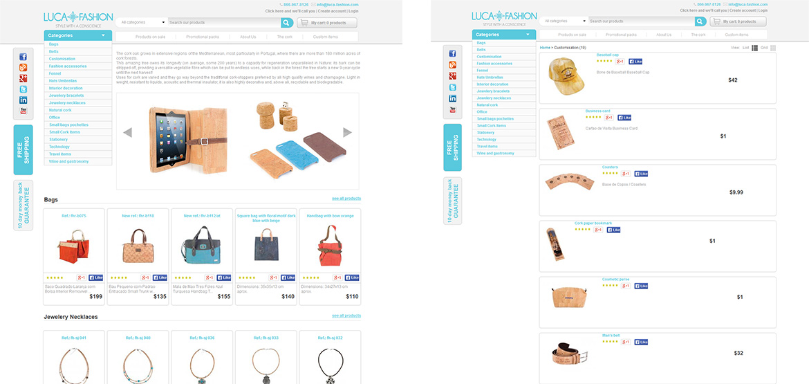 Design logo site web Luca Fashion – magazin online fashion