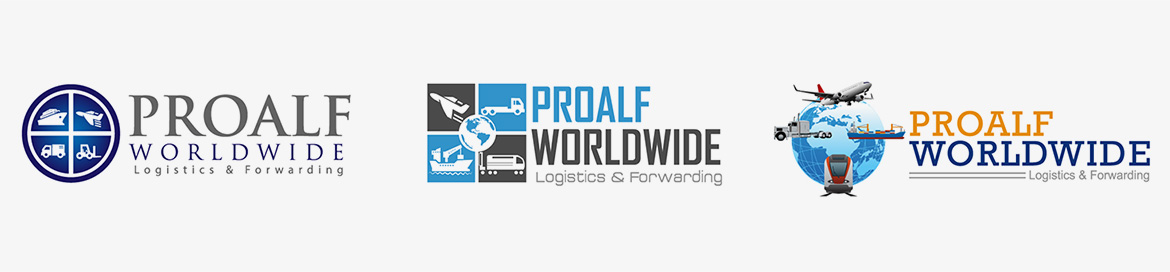 Desing logo companie transport si expeditie marfa Proalf Wordwide